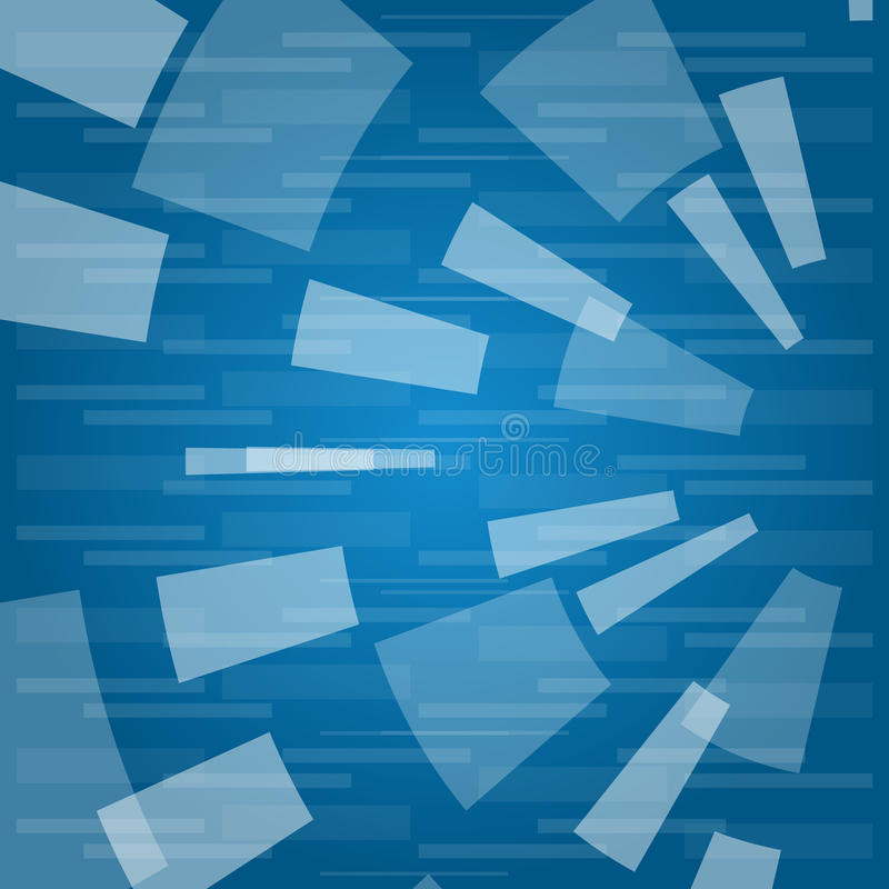 Abstract texture with rectangles. On a blue background vector illustration