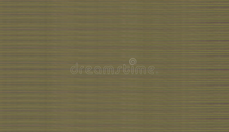 Abstract texture set of bright horizontal narrow lines of rays of green yellow on a brown stock illustration