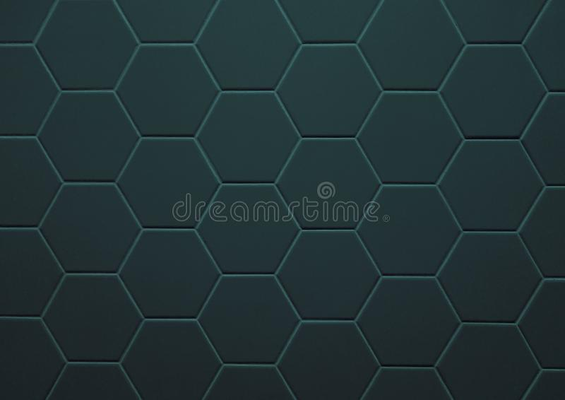 Abstract texture of tile hexagon pattern background stock images