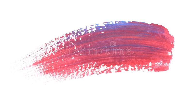 Abstract texture on white background. Acrylic pattern of bright colors. royalty free stock photography