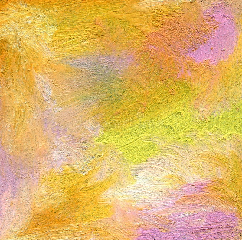 Abstract textured acrylic and oil pastel hand painted background. Impressionism style stock photos