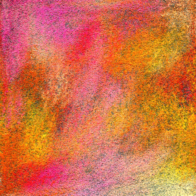 Abstract textured acrylic and oil pastel hand painted background. Paper texture stock photography
