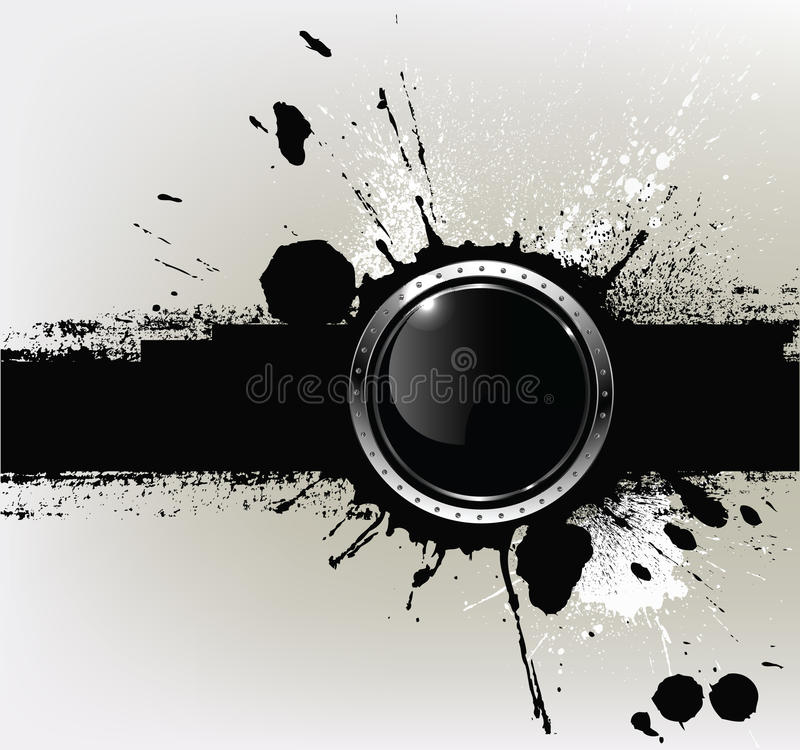 Download Abstract Textured Background With A With Round Glo Stock Vector - Image: 22009077
