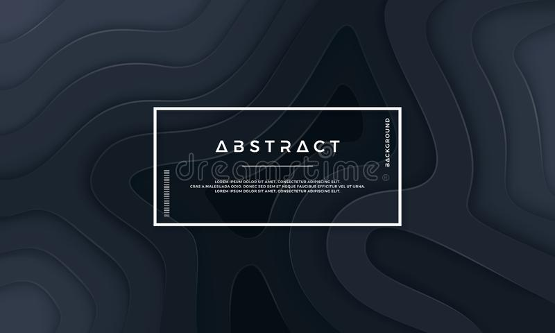 Abstract textured background with wavy layers. royalty free illustration