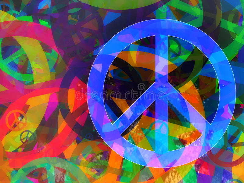 Abstract textured collage - Peace Background vector illustration