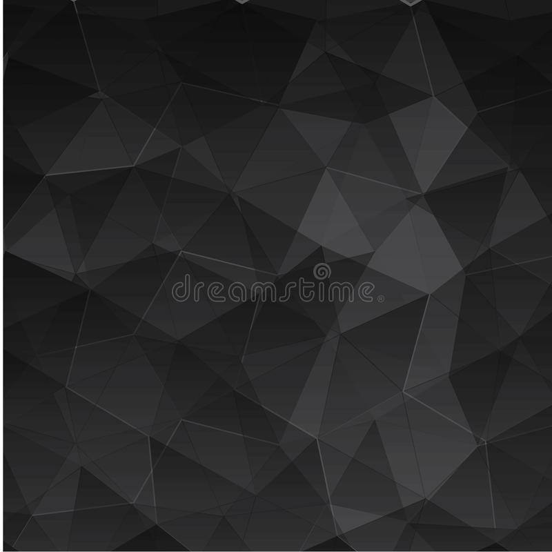 Abstract textured polygonal background. - Vector royalty free illustration
