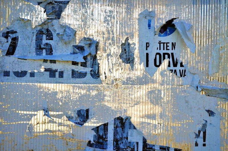 Abstract textuur gescheurd aanplakbord stock foto's
