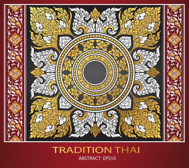 Abstract thai tradition cover. Vector vector illustration