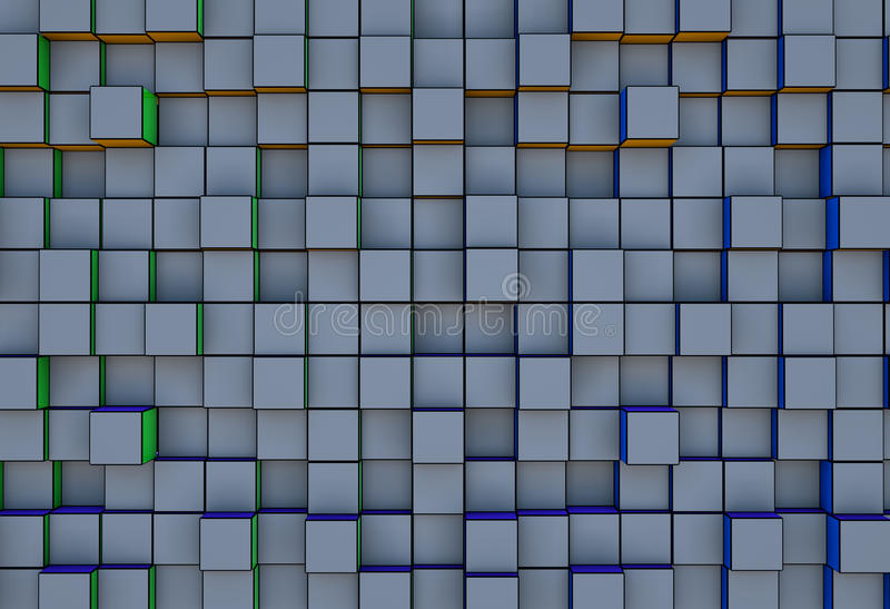 Download Abstract  Three-dimensional Cubes  Background Stock Photography - Image: 25191702