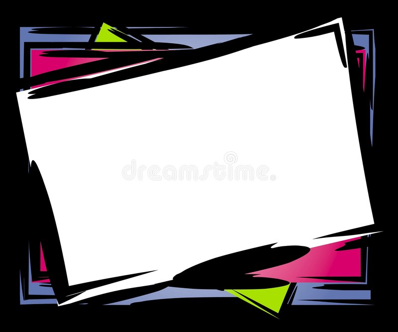 Abstract Tilted Frame Border Stock Photos
