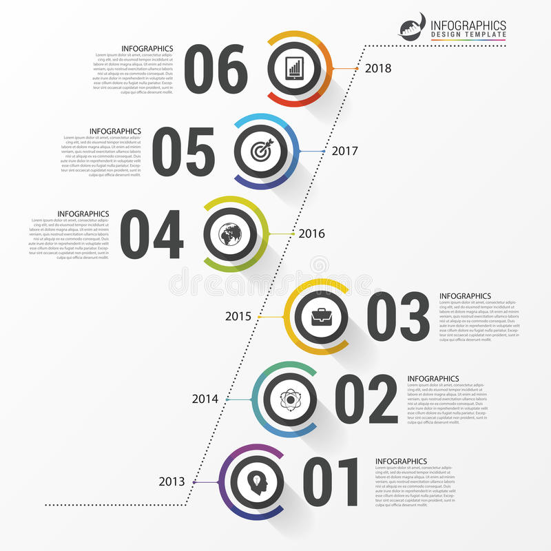 Abstract timeline infographic template. Business concept. Vector royalty free illustration
