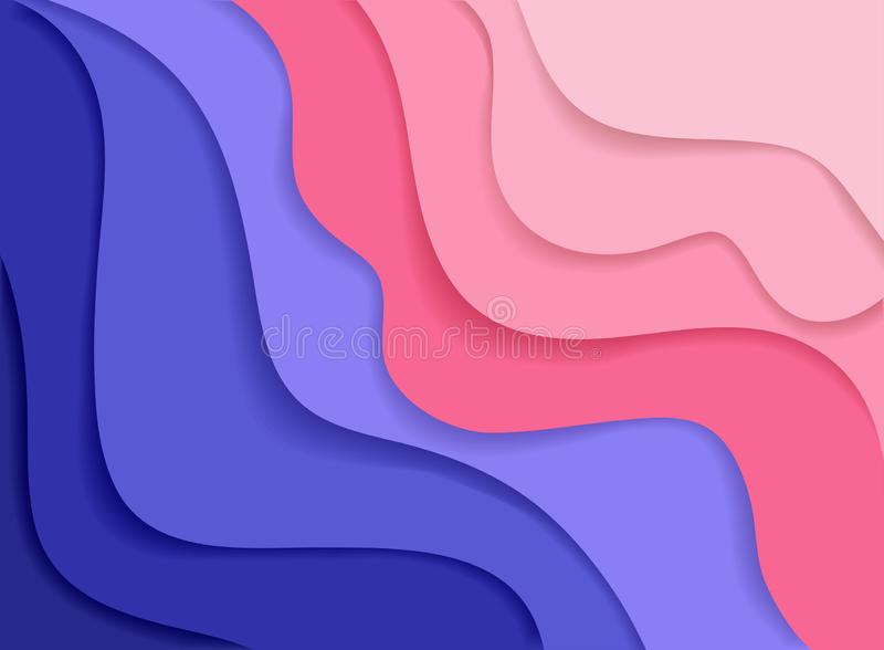Abstract topography concept design or flowing liquid illustration for website template stock illustration