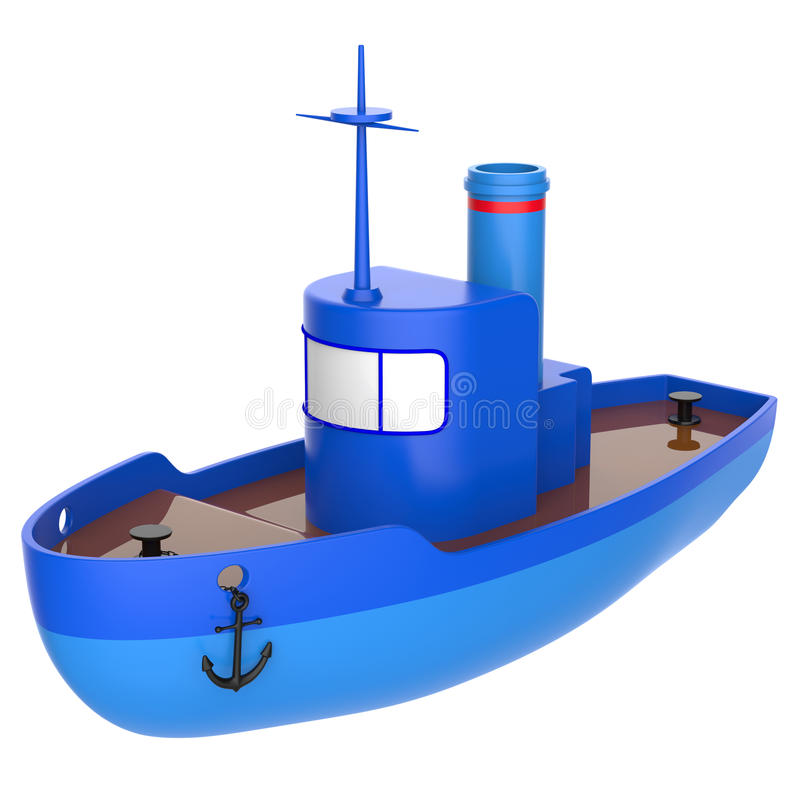 Abstract toy ship