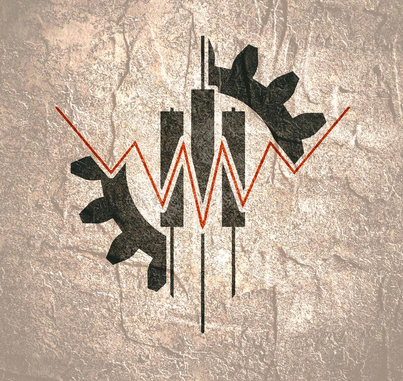 Abstract trading emblem royalty free illustration