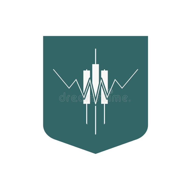 Abstract trading emblem vector illustration