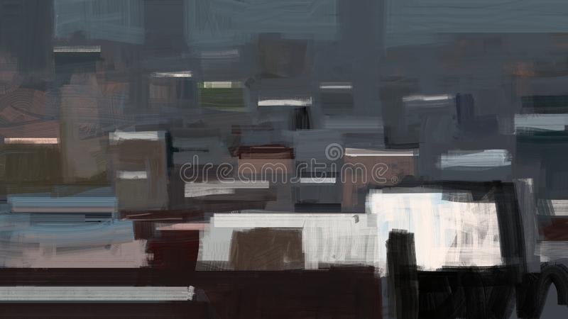 Abstract traditional painting of a city with buildings aerial view illustration stock illustration