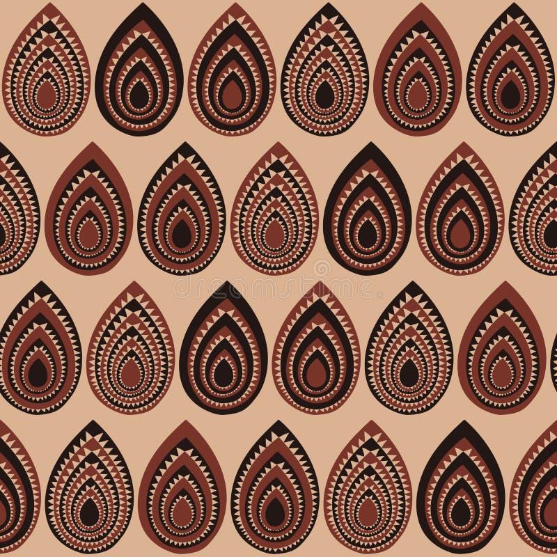 Abstract Traditioneel Afrikaans Ornament Naadloos vectorpatroon stock illustratie