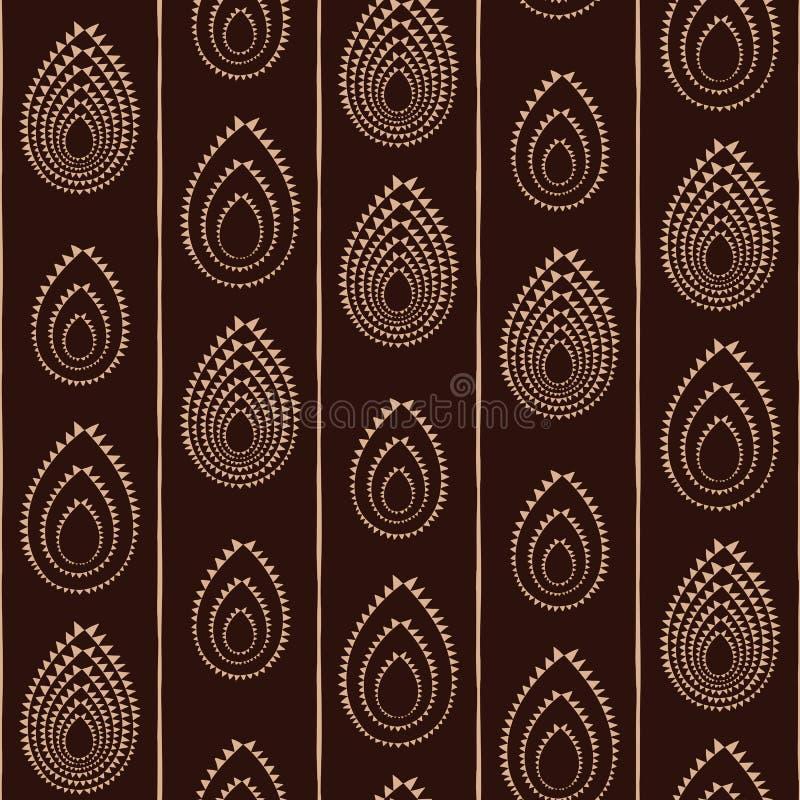 Abstract Traditioneel Afrikaans Ornament Naadloos vectorpatroon royalty-vrije illustratie