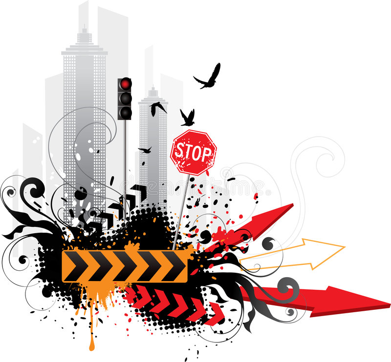 Abstract traffic background royalty free illustration