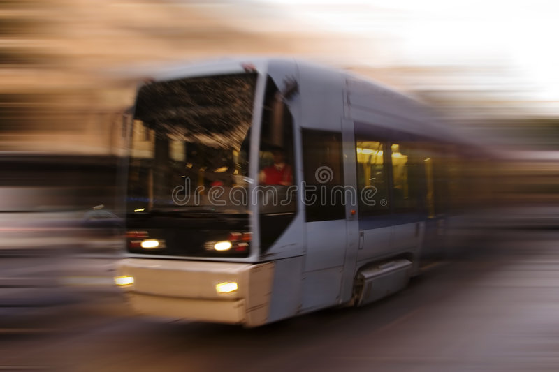 Abstract Tram Stock Image