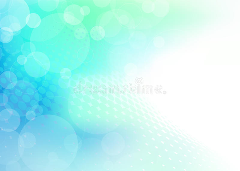 Abstract translucent spheres on blue green Background vector illustration