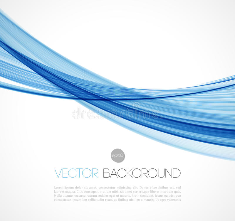 Abstract transparent fractal wave template stock illustration