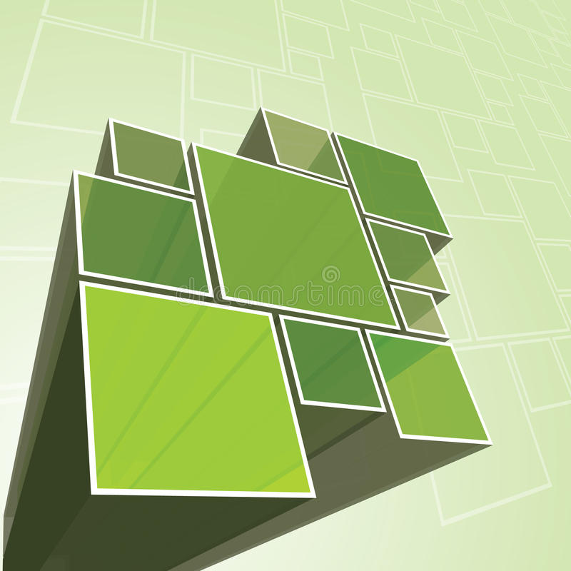 Abstract Transparent Green Prism Background Vector royalty free illustration