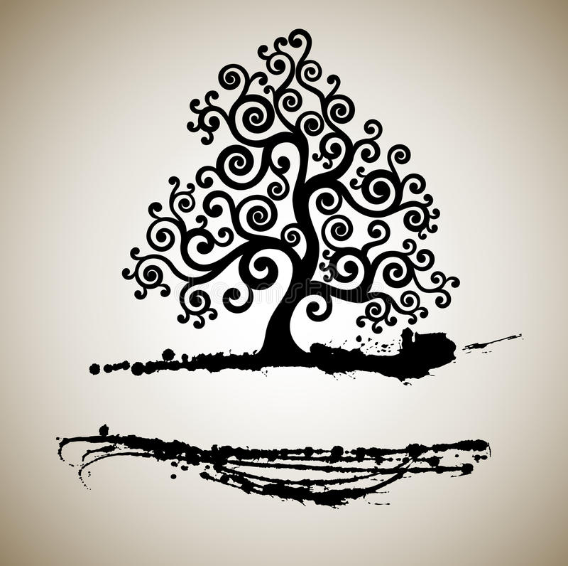 Download Abstract tree stock vector. Image of growth, painting - 18261715