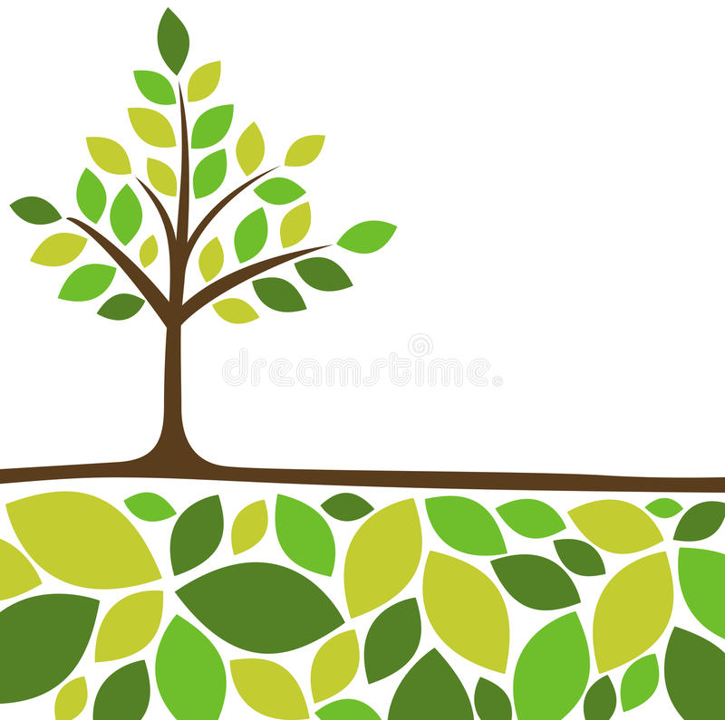 Abstract tree background royalty free illustration