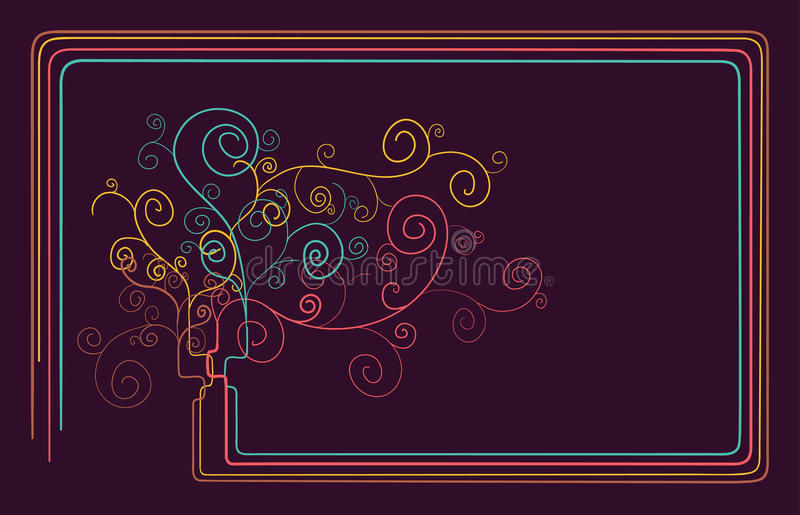 Abstract tree background stock photos