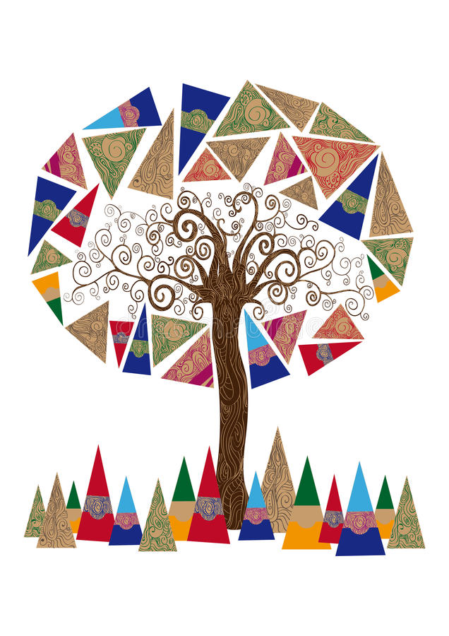 Abstract tree concept royalty free stock images