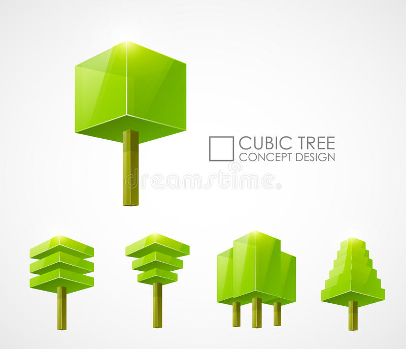 Abstract Tree Concept Design Royalty Free Stock Photos