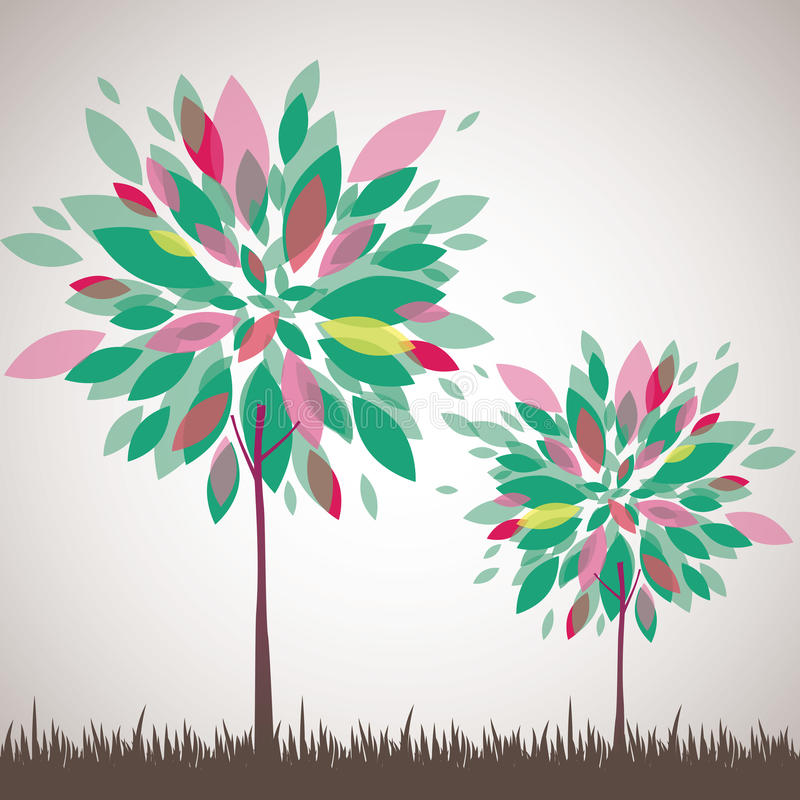 Download Abstract Tree, Flowers. Vector Illustration Stock Image - Image: 19027271