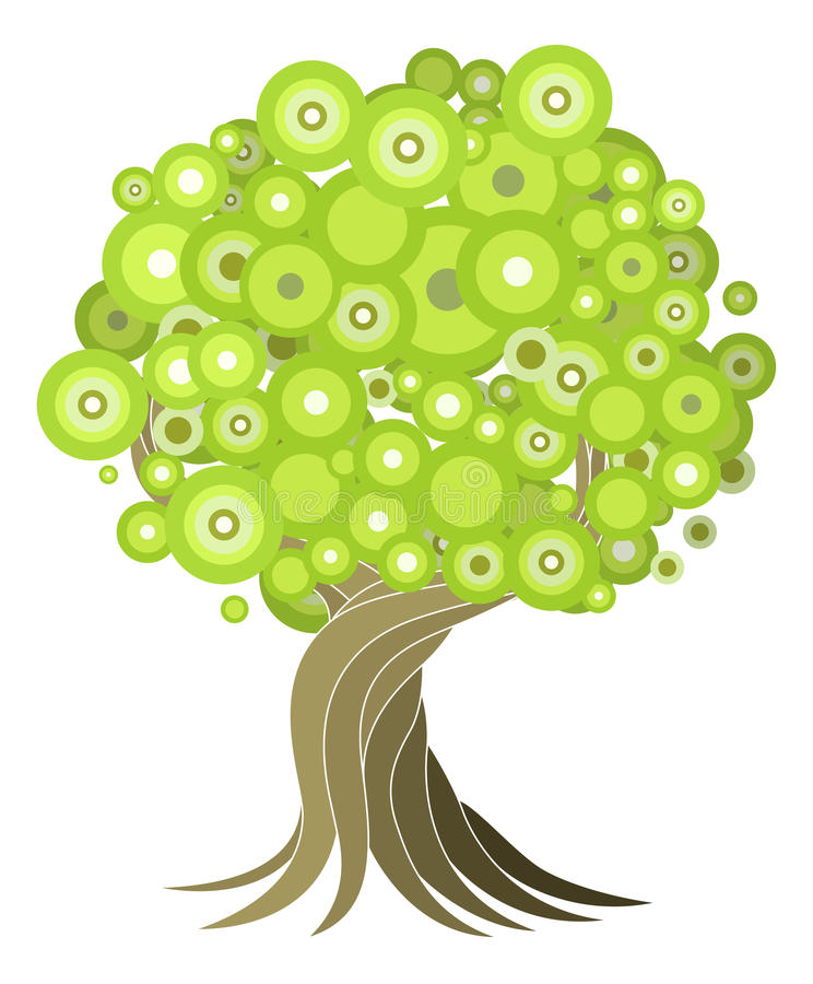 Abstract tree illustration stock illustration