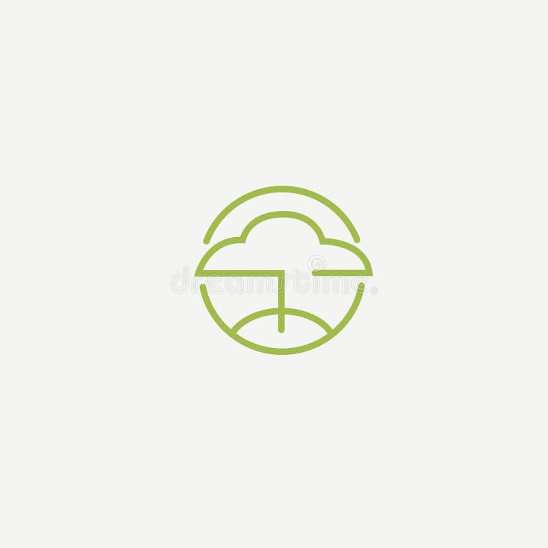 Abstract tree logo icon vector design. Landscape design, garden, Plant, nature and ecology vector logo vector illustration