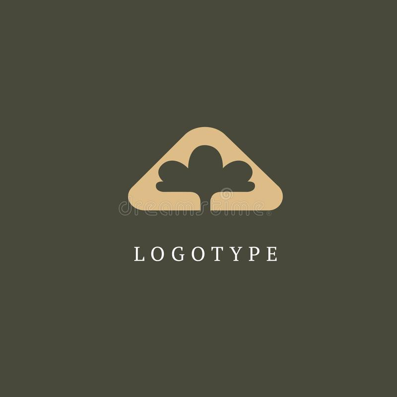 Abstract tree logo icon vector design. Landscape design, garden, Plant, nature and ecology, Environmental protection, ecology, Bot vector illustration