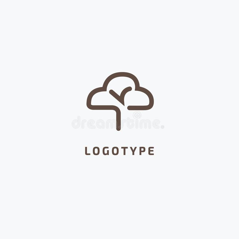 Abstract tree logo icon vector design. Landscape design, garden, Plant, nature and ecology vector logo. Vector illustration, Graph royalty free illustration