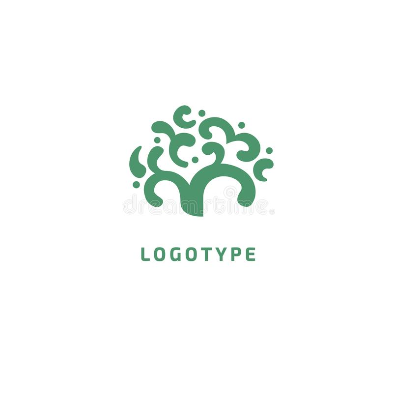 Abstract tree logo icon vector design. Landscape design, garden, Plant, nature and ecology vector logo. Vector illustration, Graph vector illustration