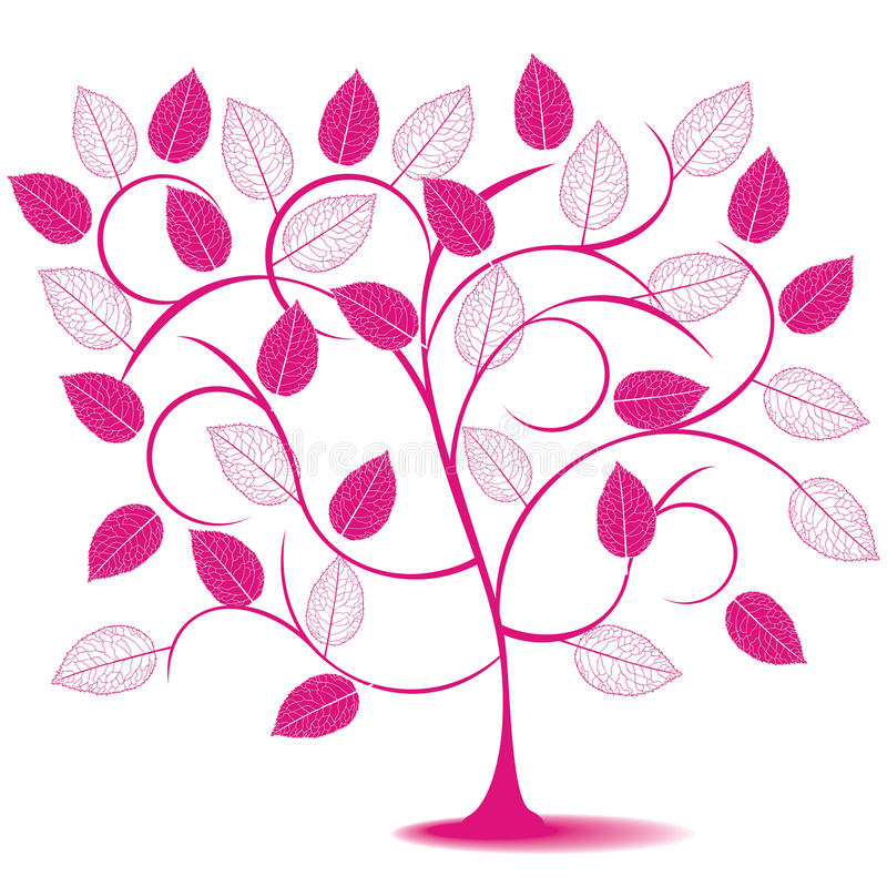 Download Abstract tree in pink stock vector. Illustration of floral - 20928104