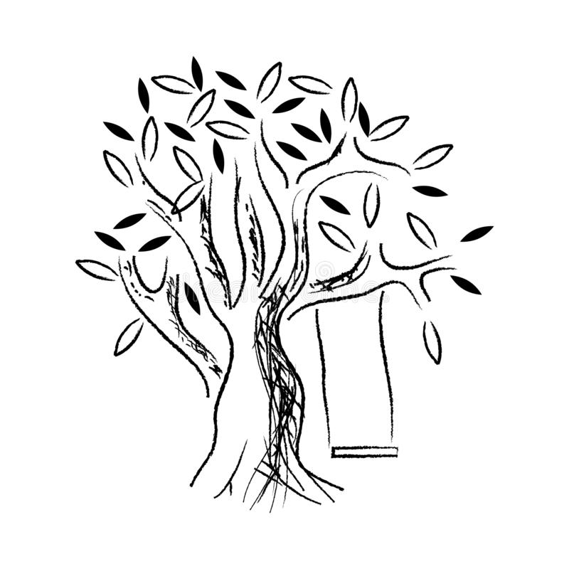 Abstract tree stock design vector. flat design. Vector illustration stock illustration