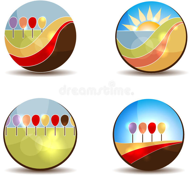 Abstract trees stock illustration