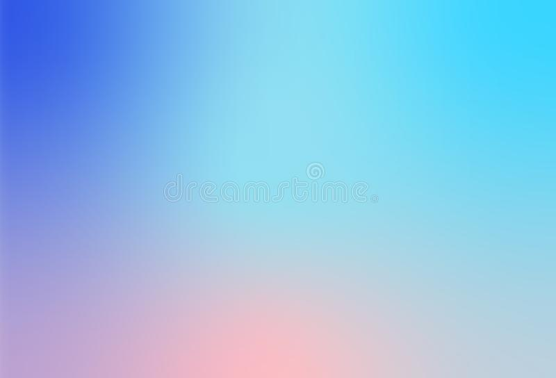 Abstract Trendy Soft Pastel Multi Colorful blurred gradient background for Modern Bright Website Banner or Invitation stock illustration