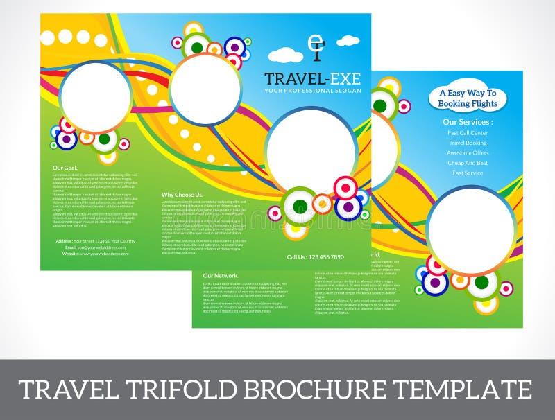 Tri-Fold Travel Brochure stock vector  Illustration of brand