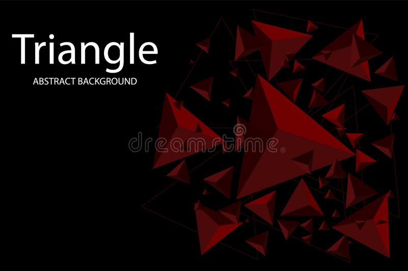 Abstract Triangle Background. 3D Triangles. Modern Wallpaper. Vector illustration. Creative Triangle Background. 3D Triangles. Modern Wallpaper. Vector royalty free illustration