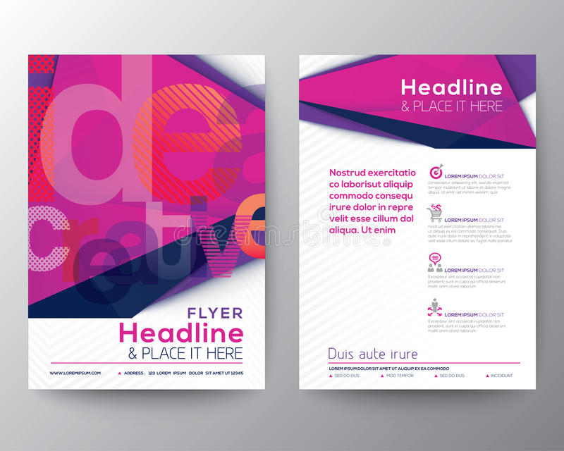 Abstract Triangle Brochure Flyer design Layout template stock photo