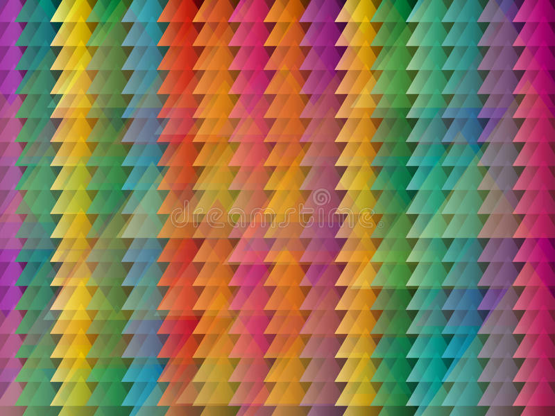 Abstract triangle colored background stock illustration
