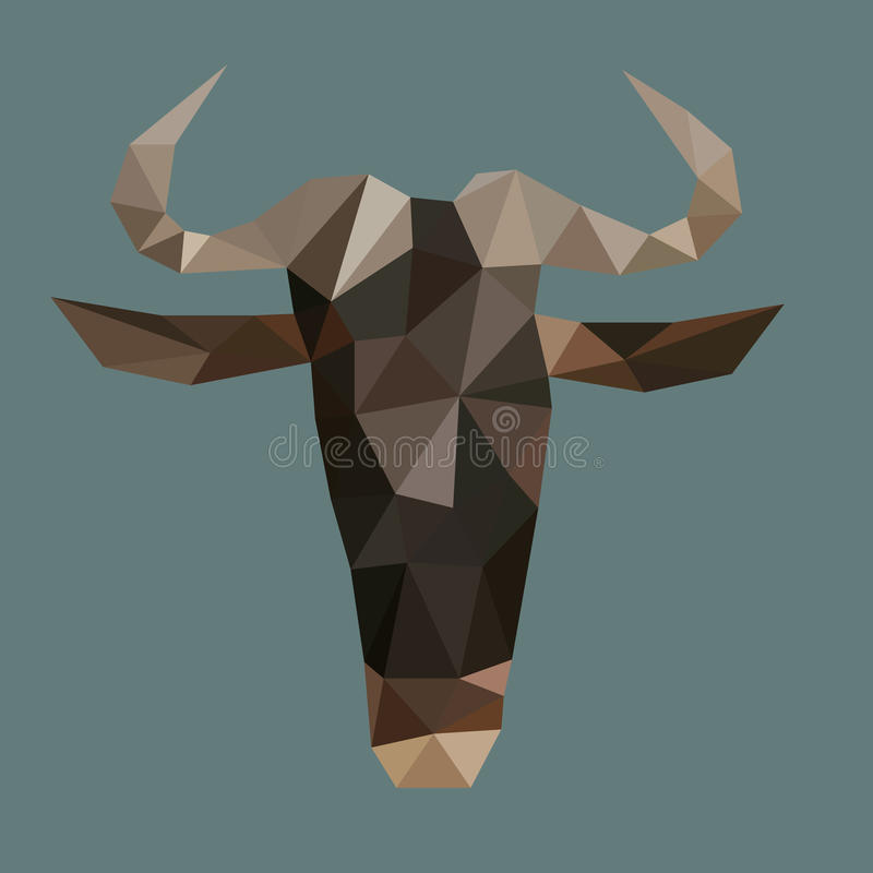 Download Abstract Triangle Cow Head Stock Vector Illustration Of Blue