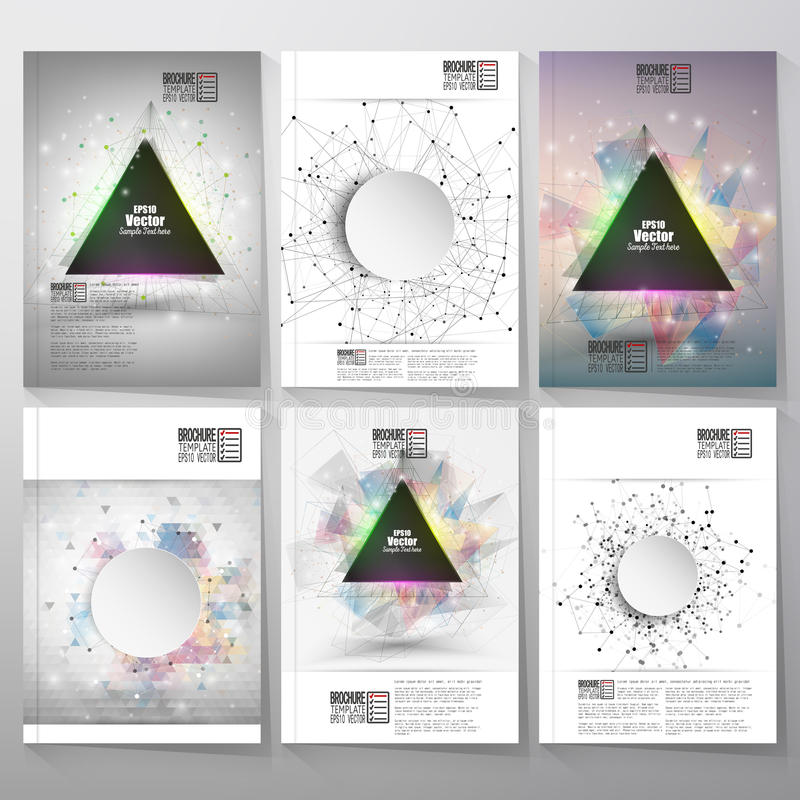 Abstract triangle design brochure, flyer or report royalty free illustration