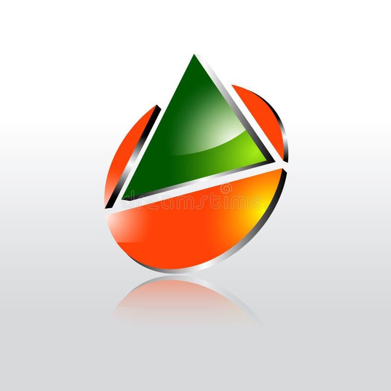 3dlogo Sign Design: Abstract Triangle 3Dlogo , Creative Media Play Logo, Vector