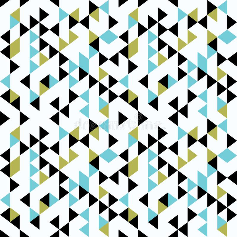 Abstract triangle geometric seamless pattern vector multicolor memphis 90s style vector illustration